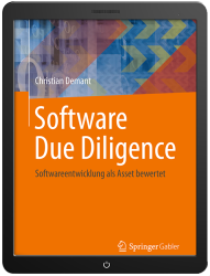 Fachbuch Software Due Diligence als eBook im Tablet