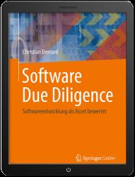 Fachbuch Software Due Diligence als eBook im Tablet